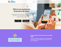 New landing page for Otto Assistente Financeiro