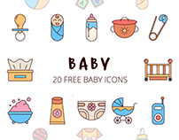 Baby Vector Free Icon Set