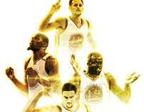 NBA Graphic Design Posters GOLDEN STATE WARRIORS