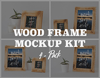 FREE WOOD FRAME MOCKUP KIT