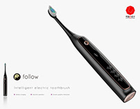 Follow the smart toothbrush