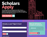 Scholars Apply web application