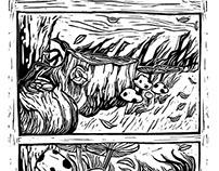 Doomsday Linocut Comic