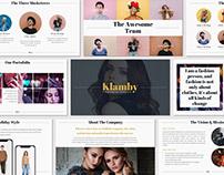 Klamby - Presentation Template