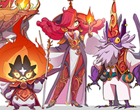 Characters Design: Fire Mages//personal project