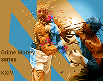 Process poster. Grime Money Series. 2017