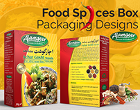 Food Spices Box Packaging Design for a Food Company UK