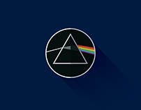 Material Design Style Rock Logos, Symbols & Iconography