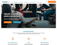 Five9Group Website Design Layout