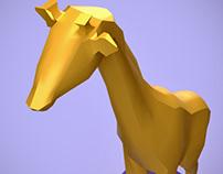 Low Polly Giraffe