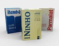 (Study) Minimalist Milk Boxes