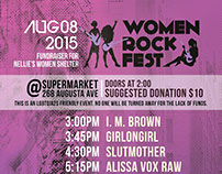 Women Rock Fest Poster Design