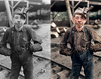 Eleven Year Old Coal Miner, 1908.