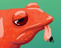 "Inktober ""Poisonous"" Frog"