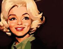 Marilyn Monroe Digital Painting
