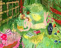 Illustration for the gardening magazine onzeeigenTUIN