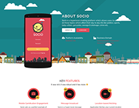 Web design for social chatting app portfolio