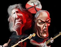 Caricature Pink Floyd