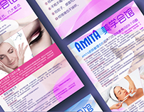 Slimming personal club Graphic advertising design