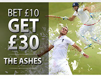 Betfred The Ashes - Landing pages and banners