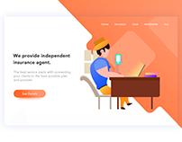 Insurance service landing page