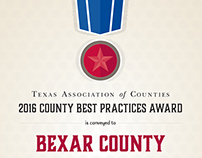 Awards Certificate for County Best Practices Program