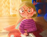 Santa's Last Call- Children's Book Illustration