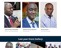 Landing page of NBA annual Conference 2018