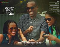 Safaricom 4G Microsite