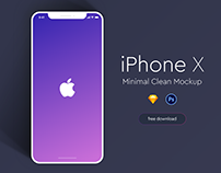 Apple iPhone X Minimal Mockup