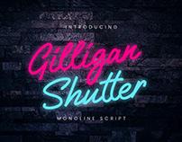 Free Gilligan Shutter Monoline Script Font