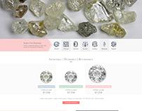 David Levy Diamonds Web Site Design Ui/Ux