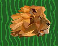 Low Poly Leão | Projetos Pessoais
