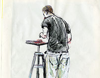 Watercolor Observed People