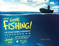We've Gone Fishing - Flyer Template