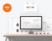 Shopy - Freebie Ecomerce PSD Template