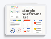 Simple Wireframe UI Kit
