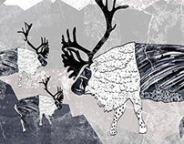 Poster 'Scandinavian reindeer'