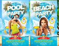 Pool and Beach Party Flyer Template