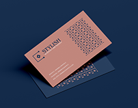 Free Stylish Business Card Mockup