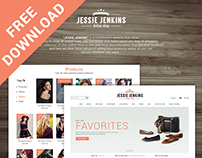 e-commerce web UI design ( Free psd download )