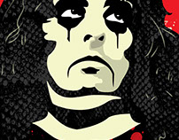 Alice Cooper vector portrait