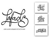 Lafadz Arabic Symbol Font - 100% Free