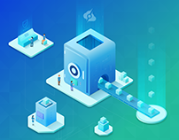 Isometric Server Illustrations