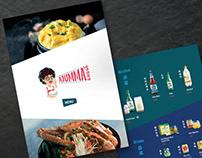 Ajumma's logo redesign and Menu design