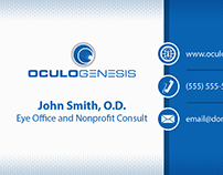 Oculogenesis Business Card Redesign