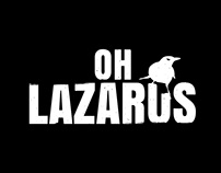 Oh Lazarus. Logo for Pins and T-shirts with a wild feel