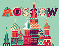 "Commercial graphic illustration / ""MOSCOW"""