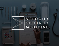 Branding and stationery for Velocity Specialty Medicine