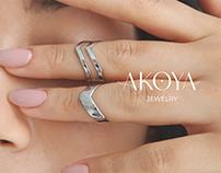 Akoya. Identity for jewelry brand